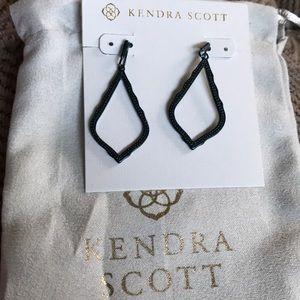 Kendra Scott Sophia gunmetal blue earrings